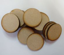 50 x 30mm circle craft shapes laser cut 3mm MDF decoupage, embellishments